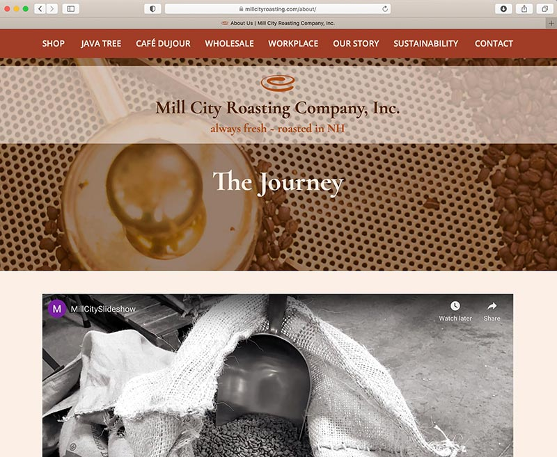 Mill City Responsive Website